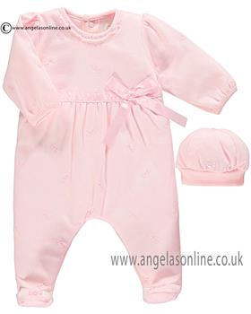 Emile et Rose girls all-in-one & hat Karly 1709pp Pink
