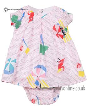 Catimini baby girls dress & panty CJ30031