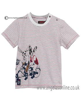 Catimini boys round neck T shirt CJ10082 Red