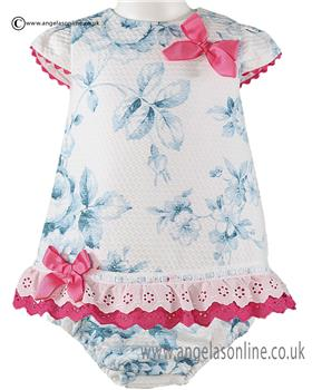 Miranda baby girls dress & panties 21-0172-VB Blue