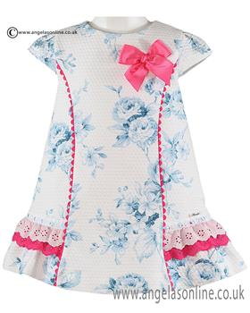 Miranda girls dress 21-0272-V Blue