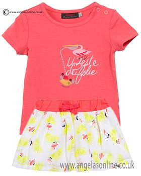 Catimini girls T-shirt & skirt CJ10193-27053 Lemon