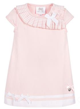 S&D Le Chic Girls Dress With Bow C6115801 Pink