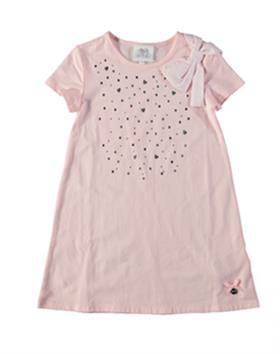 S&D Le Chic girls dress with bow C6115407 Pink