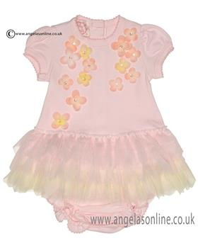 Kate Mack baby girls dress & bloomers 343BG Pink