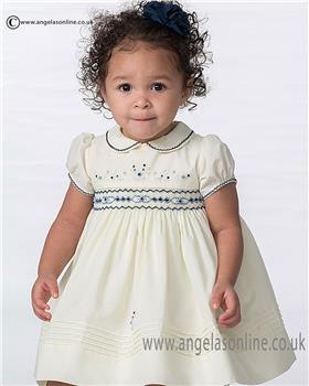 Sarah Louise baby girls dress 010689 Lemon
