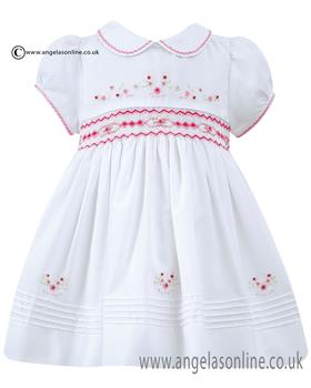 Sarah Louise baby girls dress 010689 Cerise