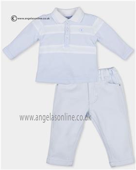 Tutto Piccolo boys long sleeve polo & pants 2821-2112 Blue