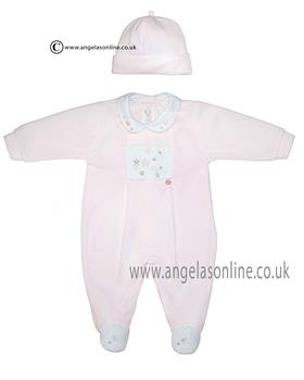 Co Co girls babygrow & hat CCS5500 Pink