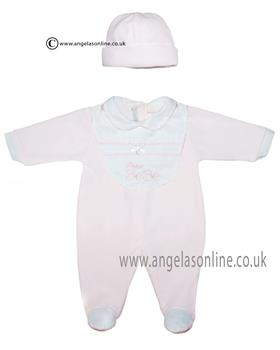 Co Co baby girls babygrow, bib & hat CCS5501 Pink