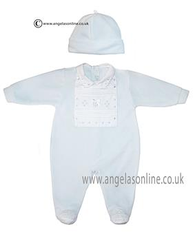 Co Co boys babygrow & hat CCS5502 Blue