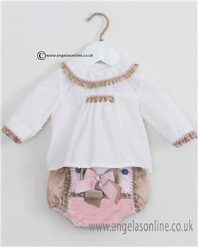 Dolce Petit girls blouse & short set 22-2110-23-17