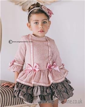 Dolce Petit girls dress 22-2246-V-17 Pink