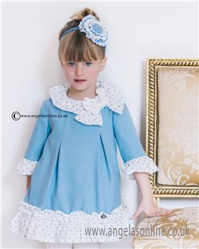 Dolce Petit girls dress 22-2256-V-17 Blue