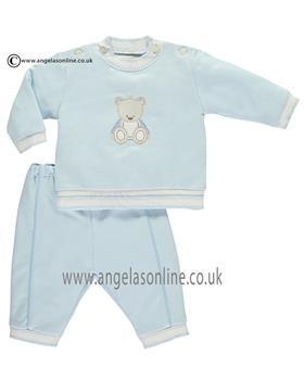 Emile et Rose boys bear top & trousers Lyle 6395pb-17 Blue