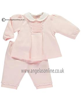 Emile et Rose girls pleated top & trousers Lani 6399pp-17 Pink