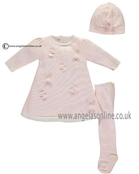 Emile et Rose girls dress, tights & hat Lottie 8333pp-17 Pink