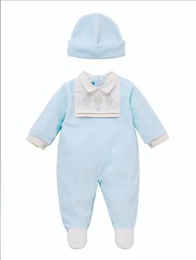 Co Co Baby Boys Babygrow & Hat A6000-17 Blue