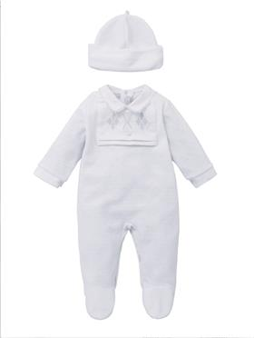 Co Co Baby Boys Babygrow & Hat A6000-17 White