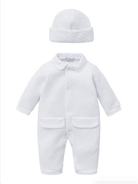 Co Co Baby Boys Babygrow 3 piece A6002-17 White