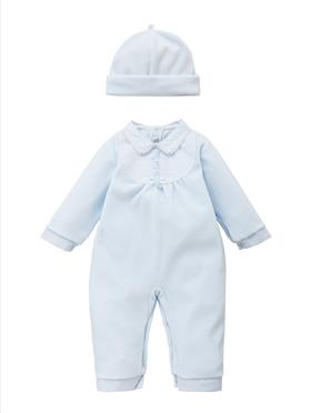 Co Co Baby Boys Babygrow 3 piece A6004-17 Blue