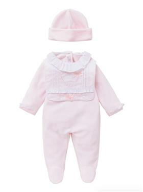Co Co Baby Girls Babygrow 3 piece A61005-17 Pink