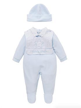 Co Co Baby Boys Babygrow 3 piece A6005-17 Blue