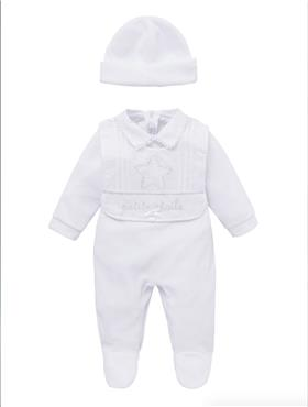 Co Co Baby Boys Babygrow 3 piece A6005-17 White