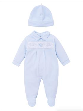 Co Co Baby Boys Babygrow & Hat A6006-17 Blue