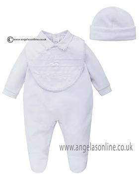 Co Co Baby Boys Babygrow 3 piece A6007-17 White