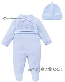Co Co Baby Boys Babygrow & Hat A6009-17 Blue