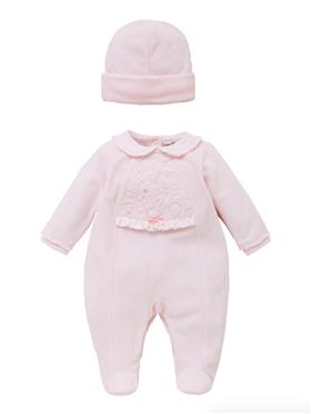 Co Co Baby Girls Babygrow & Hat A6020-17 Pink