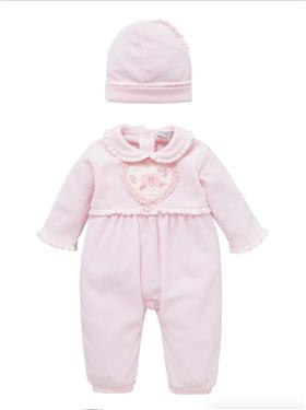 Co Co Baby Girls Babygrow 3 piece A6024-17 Pink