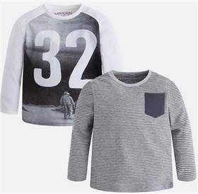 Mayoral Baby Boys Pack of 2 Tops 4019-17 Grey