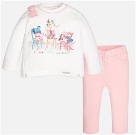Mayoral baby girls top & leg set 2808-17 Pink