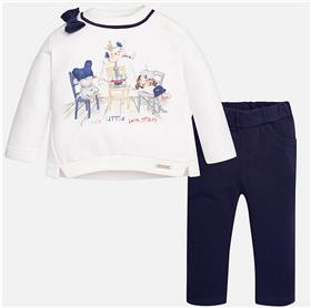 Mayoral baby girls top & leg set 2808-17 Navy