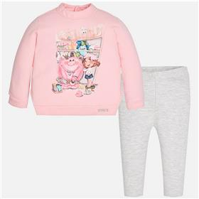 Mayoral baby girls top & leg set 2795-17 Pink