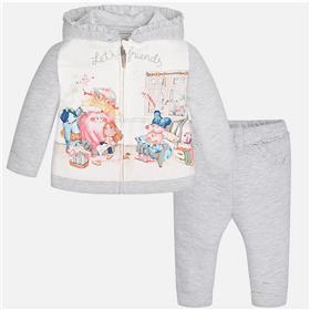 Mayoral baby girls hooded jog suit 2810-17 Grey