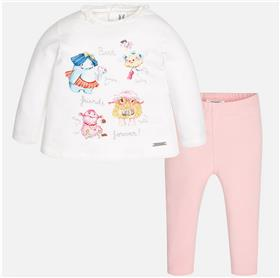 Mayoral baby girls top & leg set 2797-17 Pink