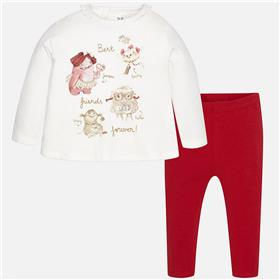 Mayoral baby girls top & leg set 2797-17 Red