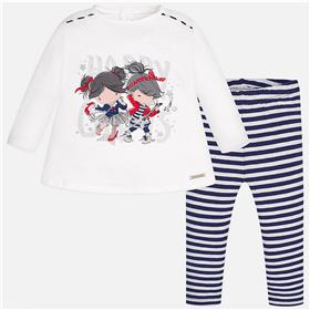 Mayoral Baby Girls Leg Set 2770-17 Navy