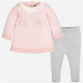 Mayoral baby girls knit dress & leg set 2700-17 Pink