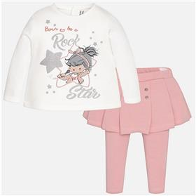 Mayoral baby girls top & skort set 2793-17 Pink