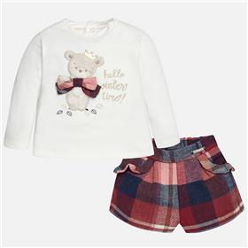 Mayoral Baby Girls Short Set 2221-17 Red