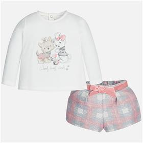 Mayoral Baby Girls Short Set 2219-17 Pink