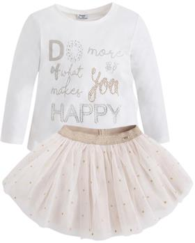 Mayoral girls top & skirt 4053-4917-7 Cream