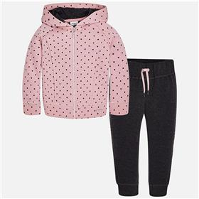 Mayoral girls spotted hooded jogger 4815-17 Pink