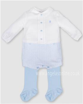 Tutto Piccolo baby boys long sleeve romper 3418-17 Blue