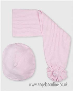 Tutto Piccolo girls beret & scarf set 3917-17 Pink