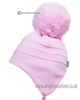 ebb364cdcdf Satiila winter chidrens kids pull on hats with large pom pom bobble.